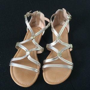 Women's gold sandals